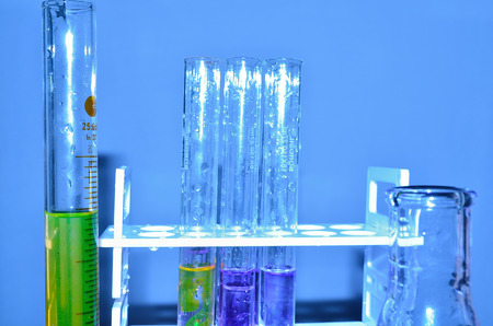 test tube holder: Test tube in test tube holder