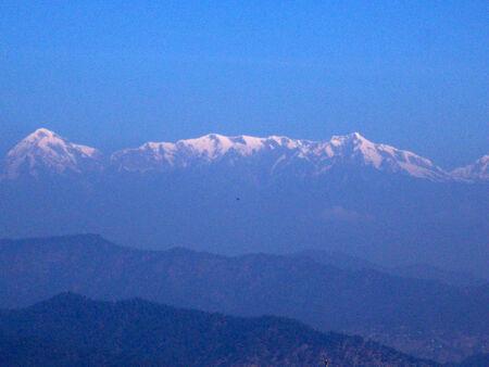 mountain view: Panorama view of mountain range