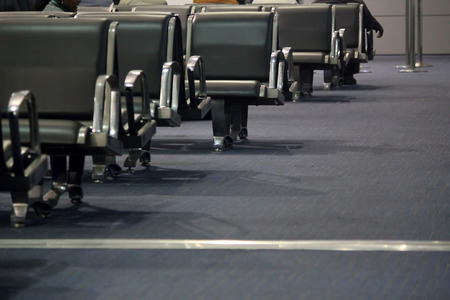 Empty chair in airport at Delhi, India. photo
