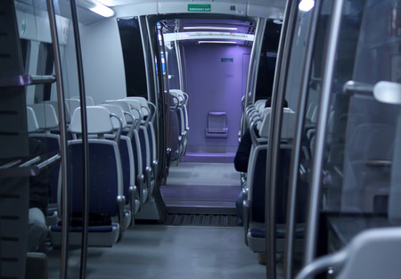 Interior of the passenger airplane. photo
