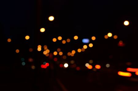 photography backdrop: Photography of light captured out of focus shot at night. Great for backdrop. Stock Photo