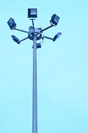 directly below: Lighting tower from low angle.
