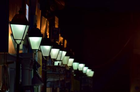 street light: Street light in a row.