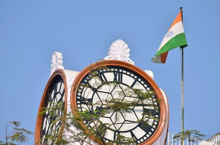 indian flag: Indian historical building at Calcutta.