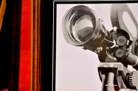 camara de cine: C�mara de pel�cula en el marco