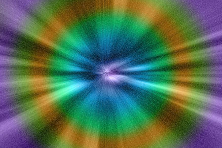 distorted image: The speed of light, time-warp trough universe filled with stars.It is created in photography software. Stock Photo