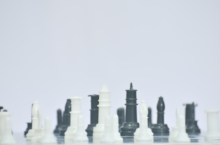 chess piece: A chess piece in white background.