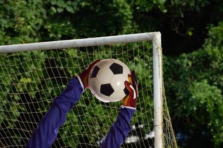 portero de futbol: Portero de f�tbol guardar meta.