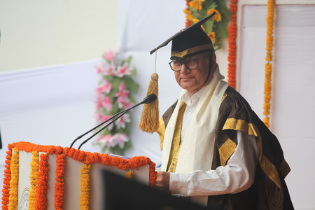 founder: Ayay Chowdhary, founder of HCL is delivering lecture during convocation 2015 at IIT Patna. Editorial