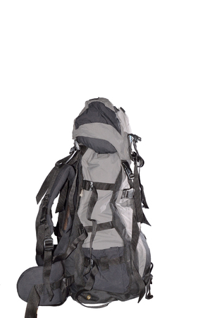 litre: A 60 litre rucksack in isolated background.