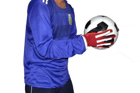 arquero futbol: Portero de fútbol es la celebración de un balón de fútbol.