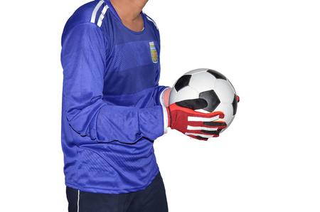 arquero de futbol: Portero de fútbol es la celebración de un balón de fútbol.