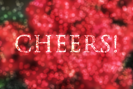 gaussian distribution: Cheers.The photograph is prepared using 3D rendering and Gaussian noise distribution in image processing software and coding. It consists of 9 layers.Red flower photograph is used to made this photograph.No part of the photograph is copied from anywhere. Stock Photo