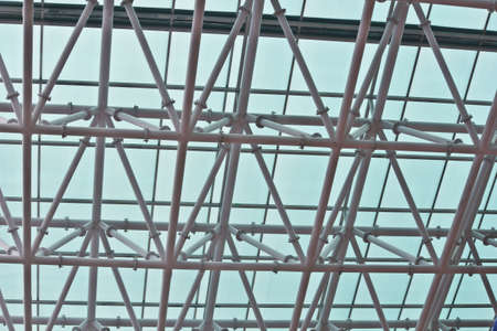 building structure: Roof of a newly constructed building
