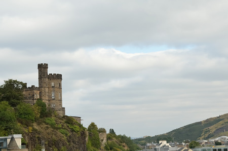 scottish culture: Castle in middle ages of Europe.Historical landmark Edinburgh Castle, Scotland. Editorial
