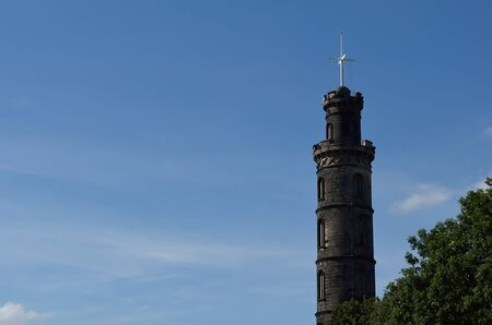 lothian: Nelsons monument on Calton Hill at Edinburgh, Scotland. Stock Photo