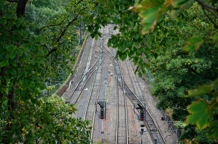 railroad track: Railroad track from top angel.