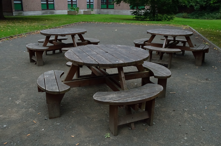 old fashioned: Empty old fashioned discussion table.