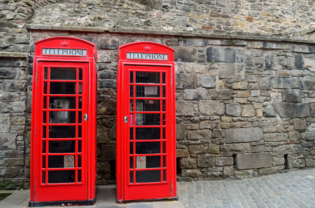 depiction: British red telephone boxes, depiction of English heritage.
