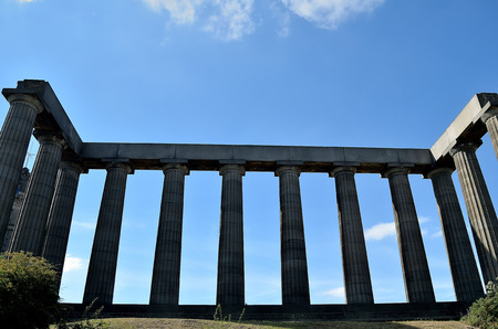 lothian: National Monument on Calton Hill, Edinburgh.