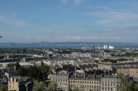 lothian: A clear view over Edinburgh seen from Calton Hill. Stock Photo