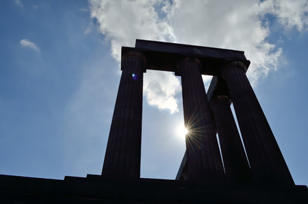lothian: National Monument of Scotland on Calton Hill.