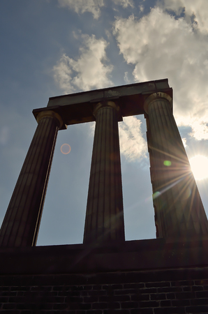 national monument: National Monument of Scotland on Calton Hill.
