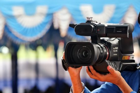 vcr: Digital movie photography camera.