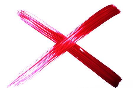 x marks the spot: Cross painted symbols isolated on white background. Stock Photo