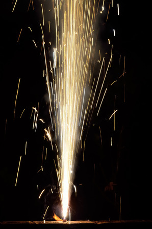 festival occasion: Firecrackers on occasion of Indian festival of lights.