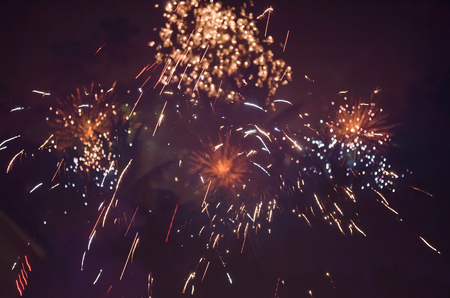 panoply: fireworks in a night sky
