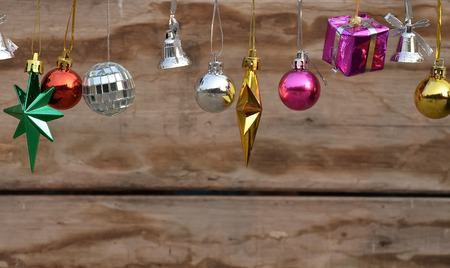 boxs: Wooden background with Christmas gift boxs.