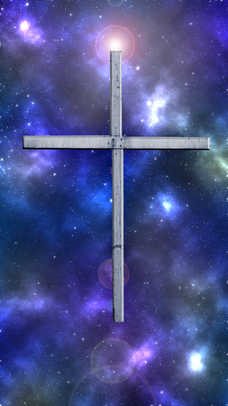 gaussian distribution: The photograph is prepared using gaussian noise distribution in image processing software. It consists of 10 layers. My picture of cross is used here.