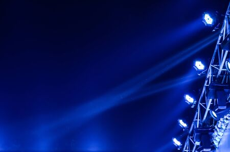 live performance: Beam of stage light for live performance on black background. Stock Photo