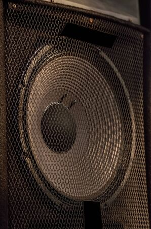 arts culture and entertainment: Subwoofer of audio system.