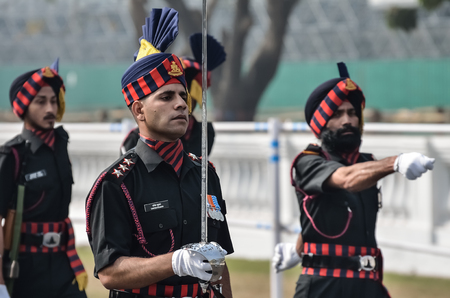 Indian army practice their parade during republic day. Editorial