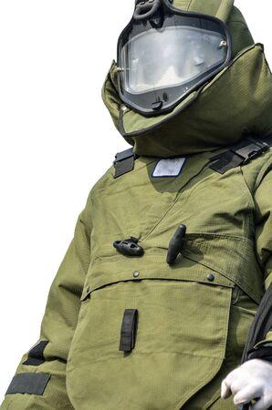 bide: Les jeunes policiers de sexe masculin bombe costume utilis�s pour diffuser et d�sarmer les bombes explosives. �ditoriale
