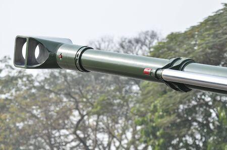 anti war: Mouth of anti aircraft gun.