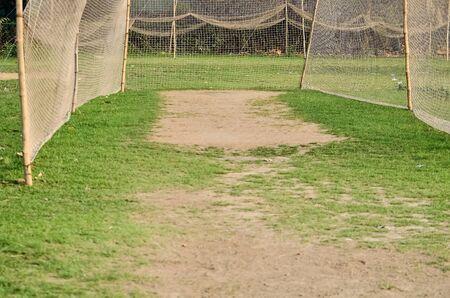 wicket: Empty wicket for cricket Stock Photo