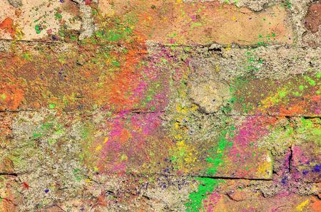multi national: Colorful background with Holi powder. Stock Photo