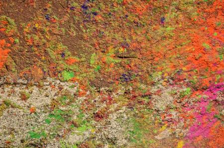 hindus: Color de fondo con polvo de Holi. Holi es un festival que se celebra en primavera por los hind�es, sijs y otros, personas que lanza polvo de color y el agua de color el uno al otro.