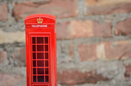 telephone booth: Old classic red telephone booth. Stock Photo