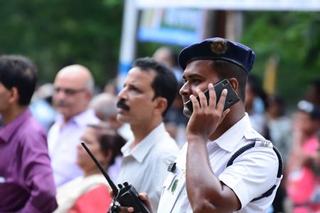 kolkata: Kolkata police manage crowd. Editorial