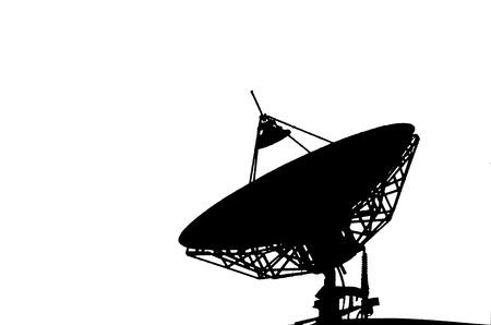 antena parabolica: Antena parabólica en el fondo blanco. Foto de archivo