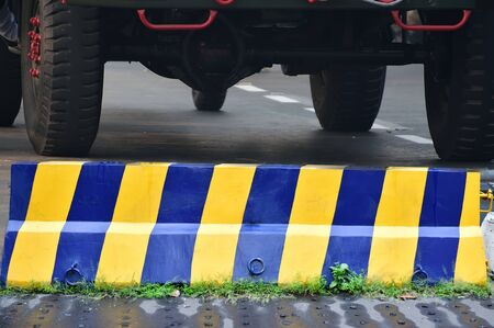barrier: Security Barrier in road Stock Photo