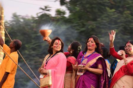 celebration: Durga Puja festival celebration. Stock Photo