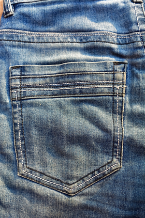 trouser: pocket in jeans trouser Stock Photo