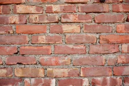 red wall: Old Red brick wall