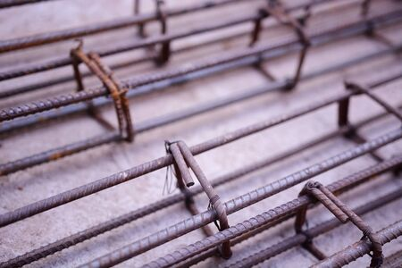 rejas de hierro: Steel bars, reinforcement concrete bars with wire rod. Iron Bars for House Construction,