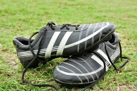 close up of soccer spike